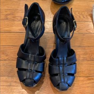 Madewell Black Healed Sandals